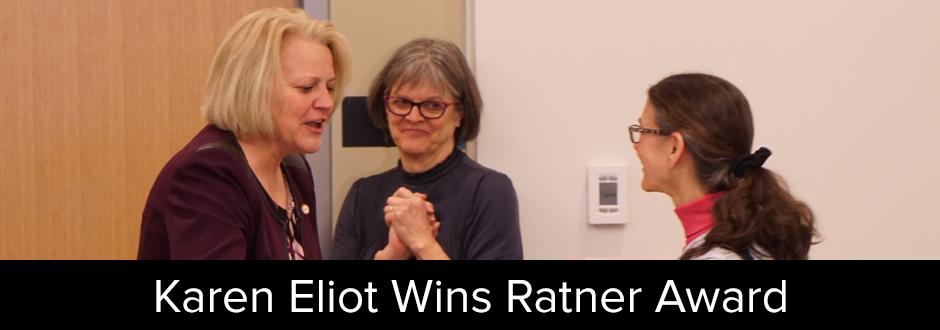 Karen Eliot Wins Ratner Award