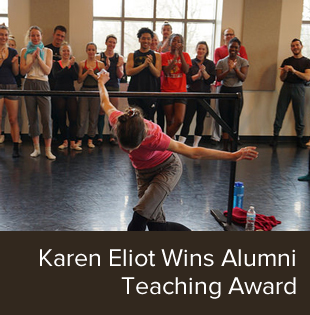 Karen Eliot performs for students.