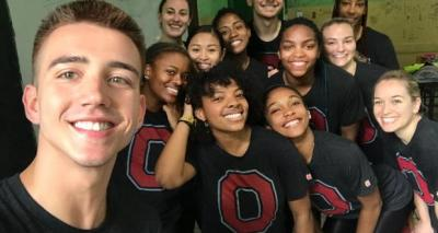 Students posing in Brazil