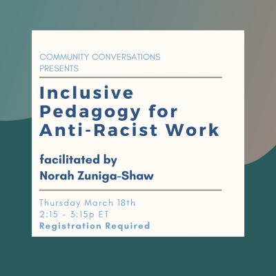 About Inclusive Pedagogy for Anti-Racist Work